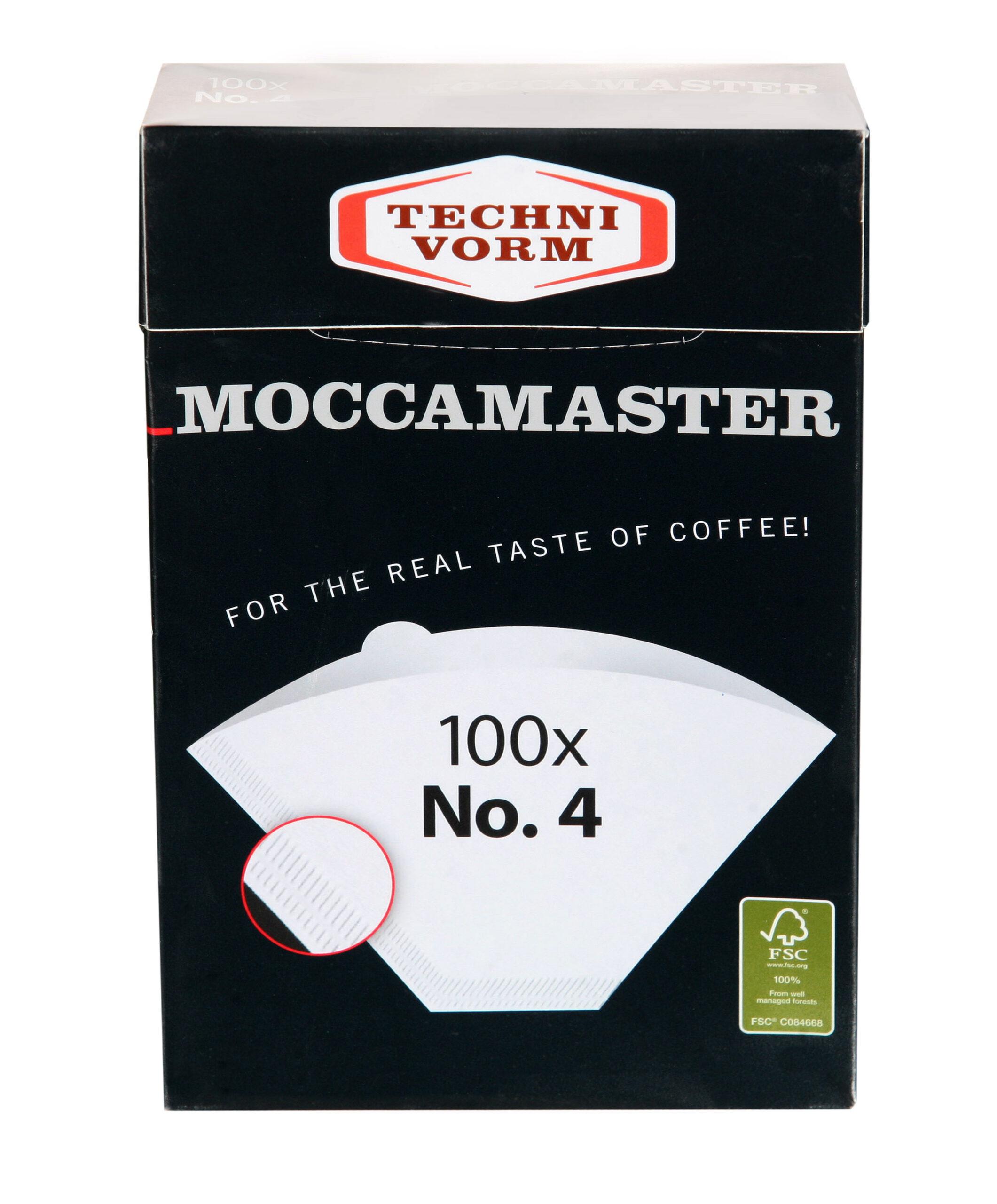 Moccamaster 100 Stück Filtertüten Nr.4 Kaffee Filter weiß ♥ 250g Kolumbien inkl